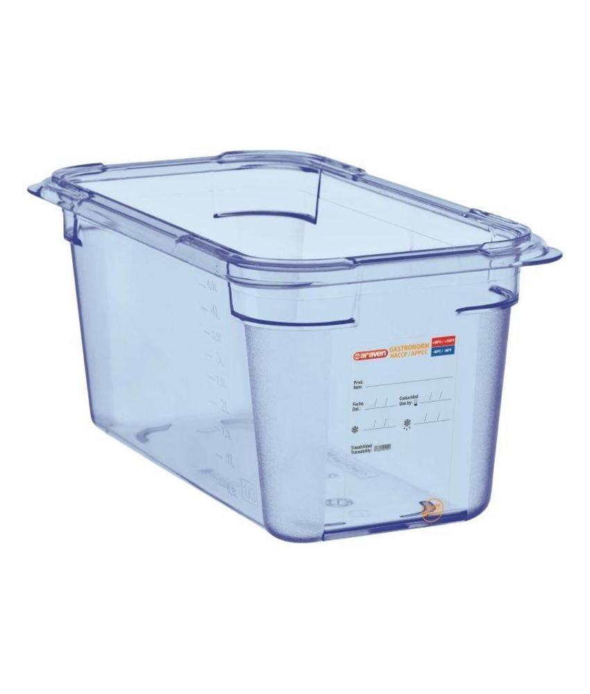 Araven Araven ABS blauwe GN1/4 voedseldoos 150mm