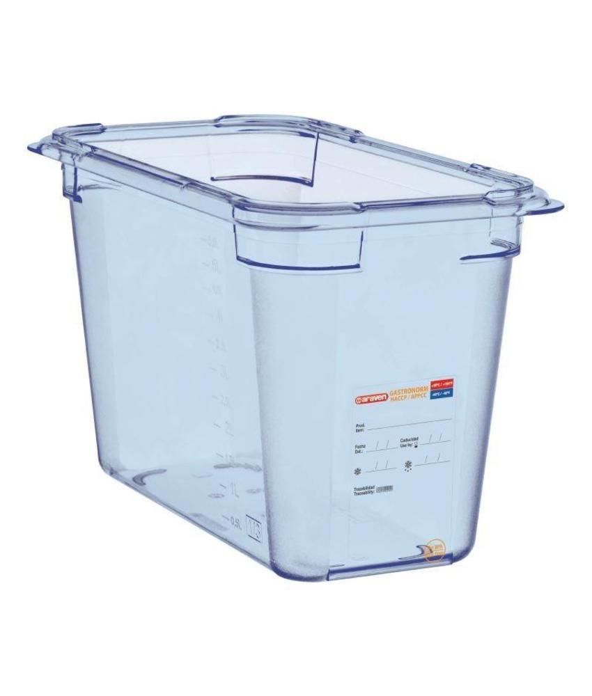 Araven Araven ABS blauwe GN1/3 voedseldoos 200mm