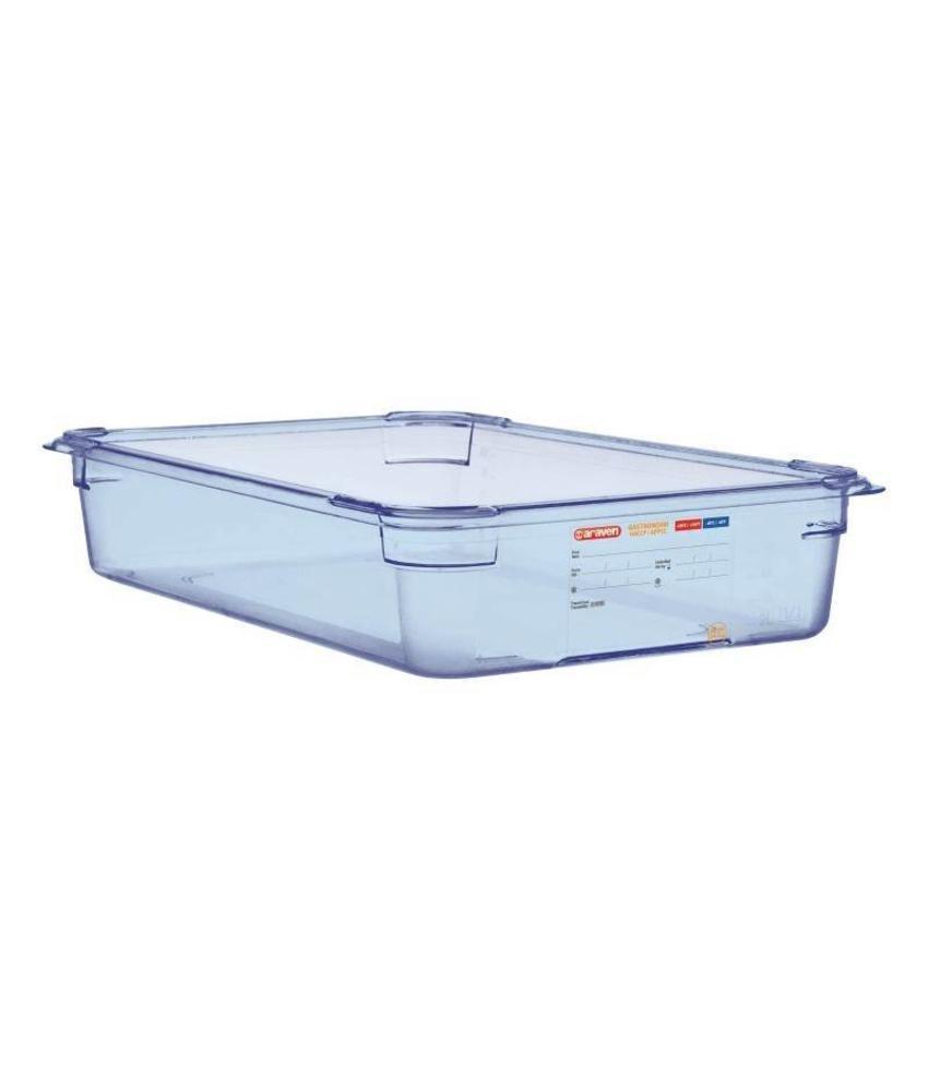 Araven Araven ABS blauwe GN1/1 voedseldoos 100mm