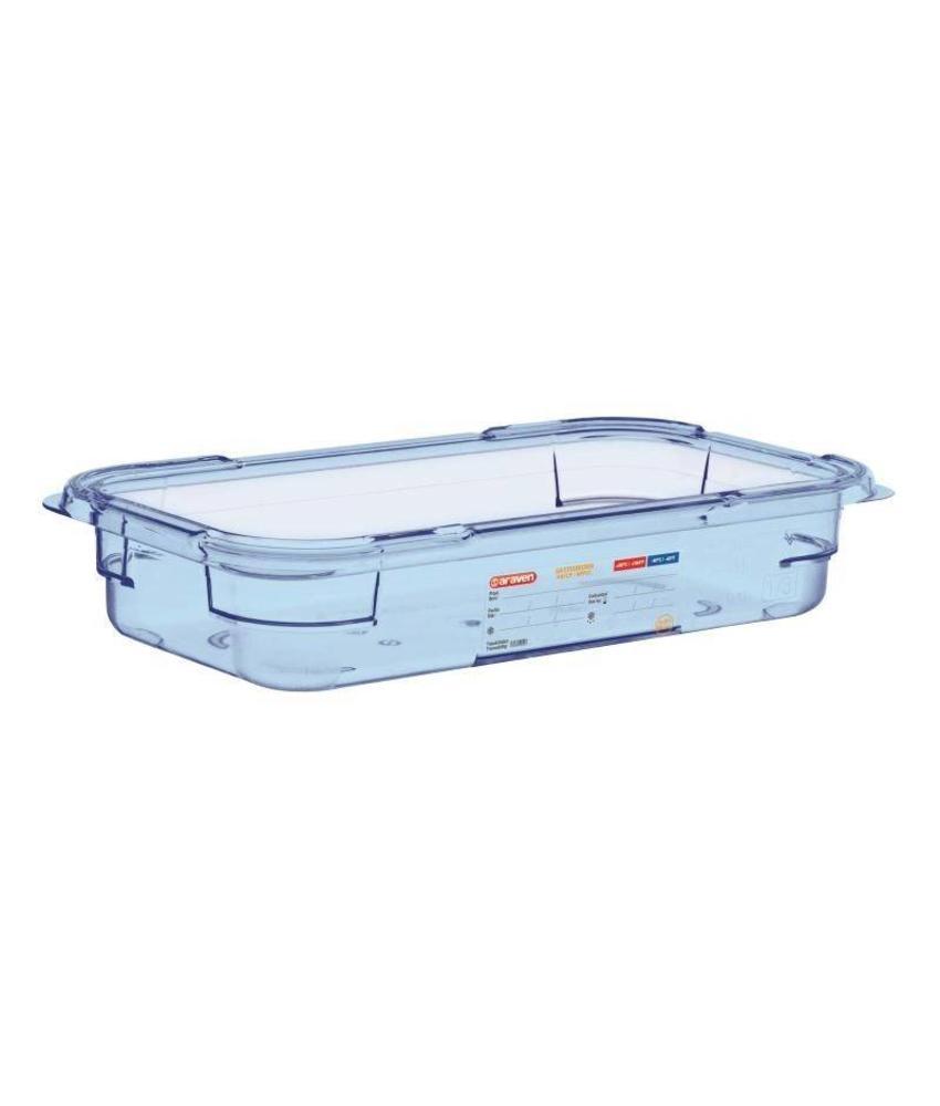 Araven Araven ABS blauwe GN1/3 voedseldoos 65mm