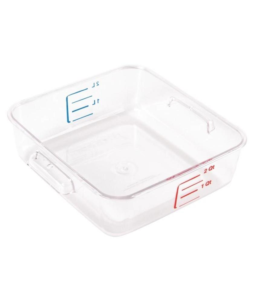 Rubbermaid Rubbermaid polycarbonaat voedseldoos 2ltr
