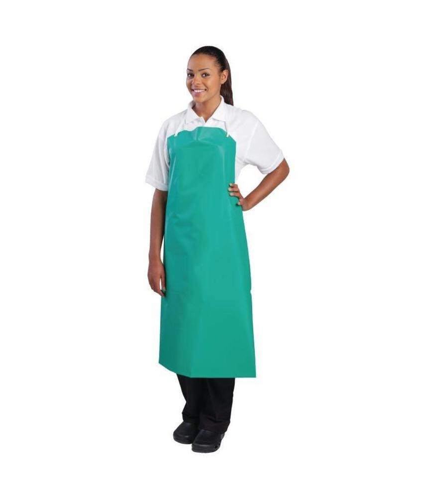 Whites Chefs Clothing Whites PVC nylon halterschort groen