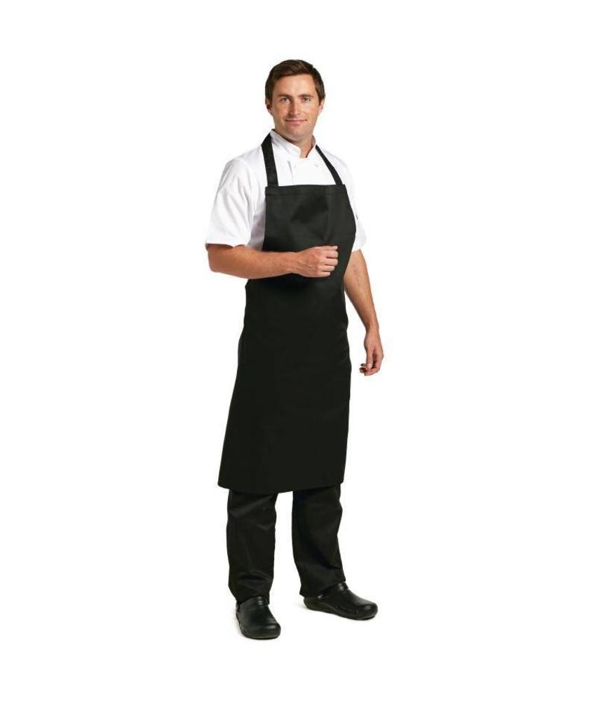 Whites Chefs Clothing Whites halterschort polyester-katoen zwart XL