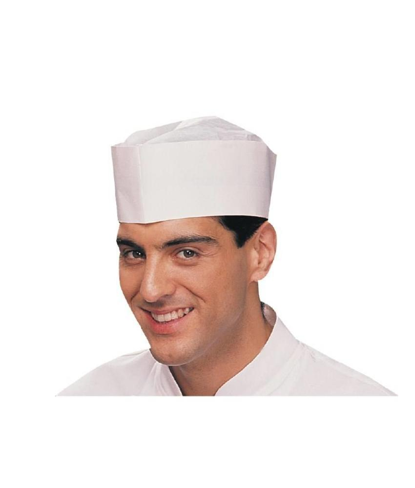 Plastico disposable slagersmuts wit 100 stuks