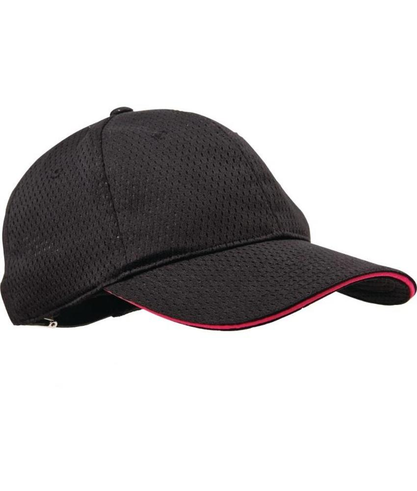 Chef Works Colour by Chef Works Cool Vent baseball cap zwart en bessen