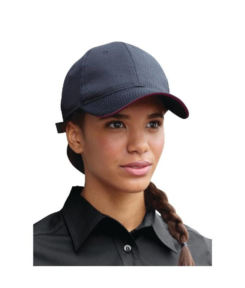 Chef Works Colour by Chef Works Cool Vent baseball cap zwart en bordeaux
