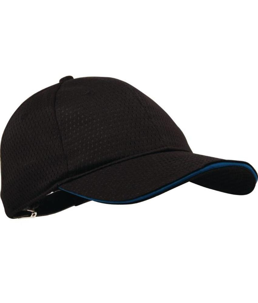 Chef Works Colour by Chef Works Cool Vent baseball cap zwart en blauw