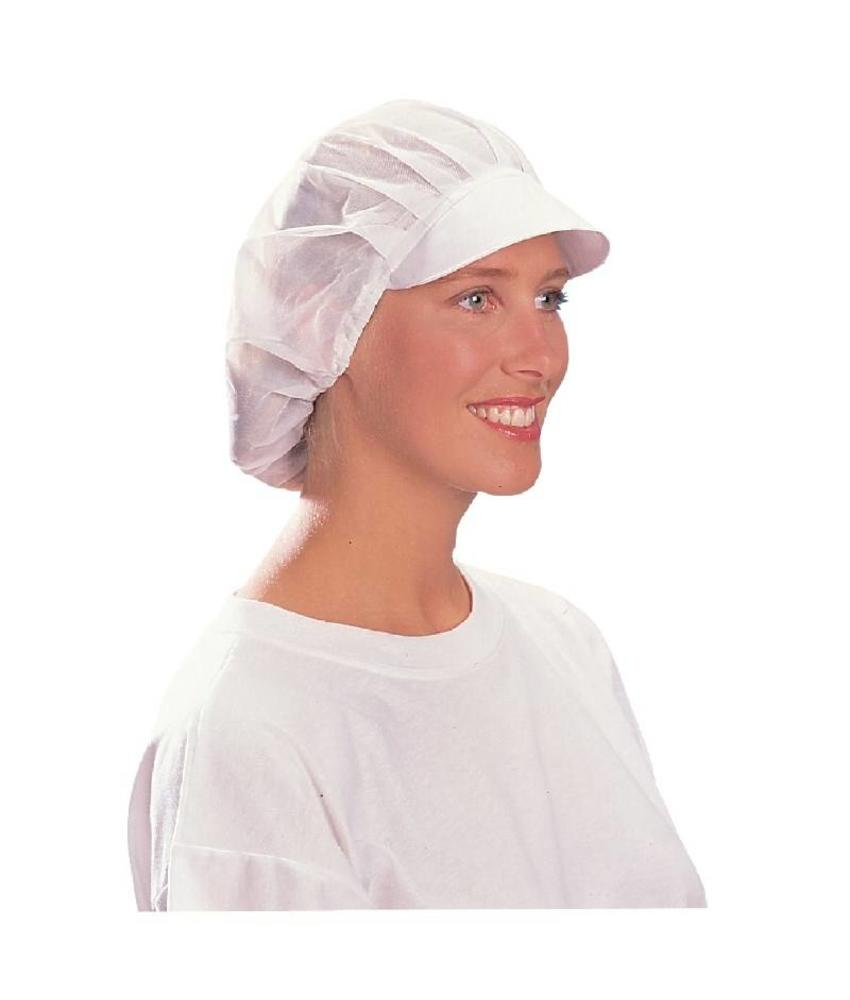 WHITES CHEFS APPAREL Whites nylon muts met klep en haarnet