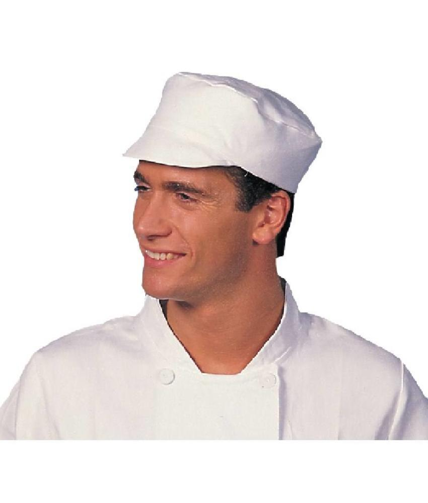 WHITES CHEFS APPAREL Whites bakkers cap wit