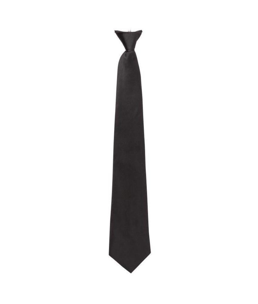 Clip-on stropdas zwart