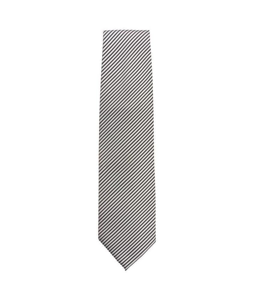 Chef Works Uniform Works stropdas zilver en zwart gestreept