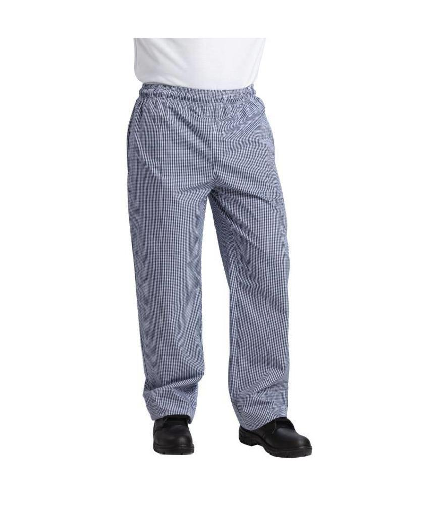 Whites Chefs Clothing Vegas koksbroek blauw/wit geruit