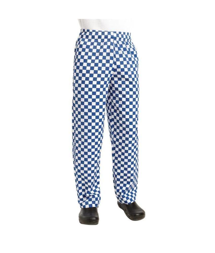 Chef Works Easyfit broek met grote ruit blauw/wit