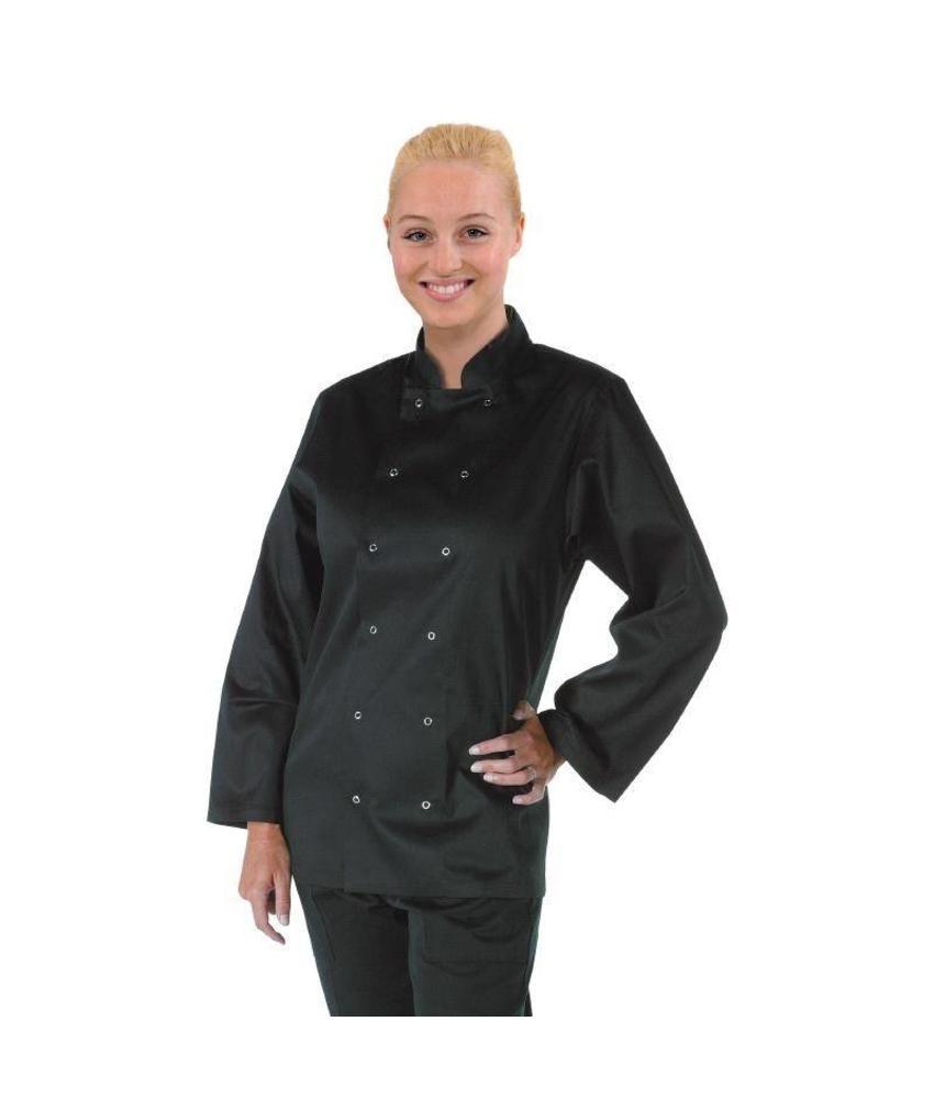 Whites Chefs Clothing Vegas koksbuis lange mouw zwart