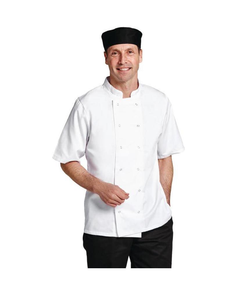 Whites Chefs Clothing Boston koksbuis korte mouw wit