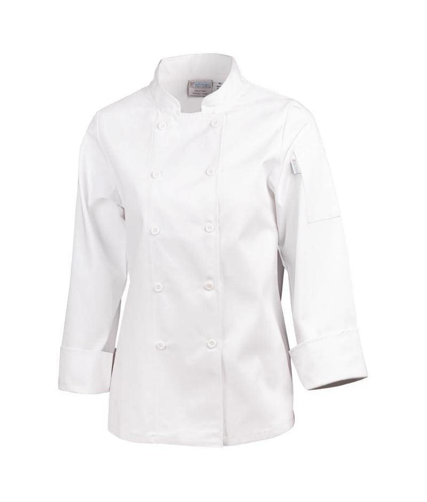 Whites Chefs Clothing dames koksbuis wit