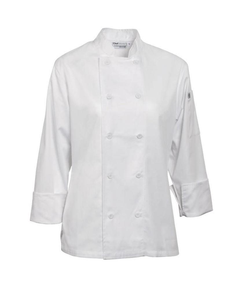 Chef Works Damesbuis Marbella wit