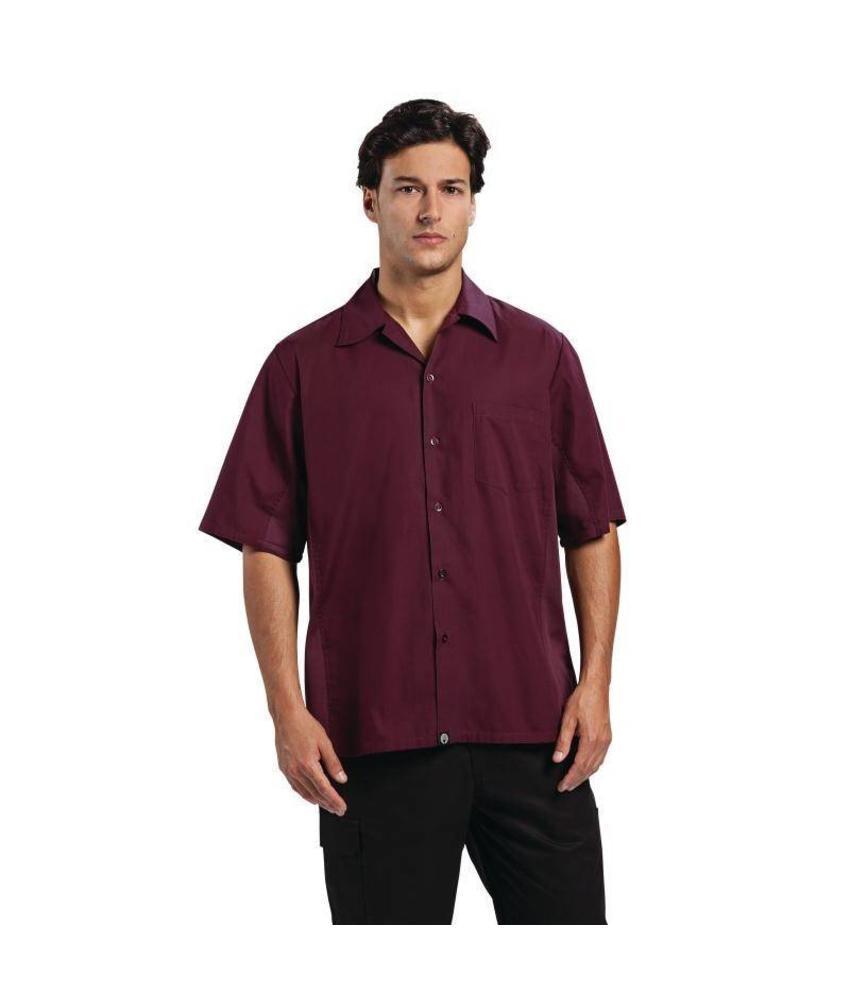 Chef Works Cool Vent shirt bordeaux