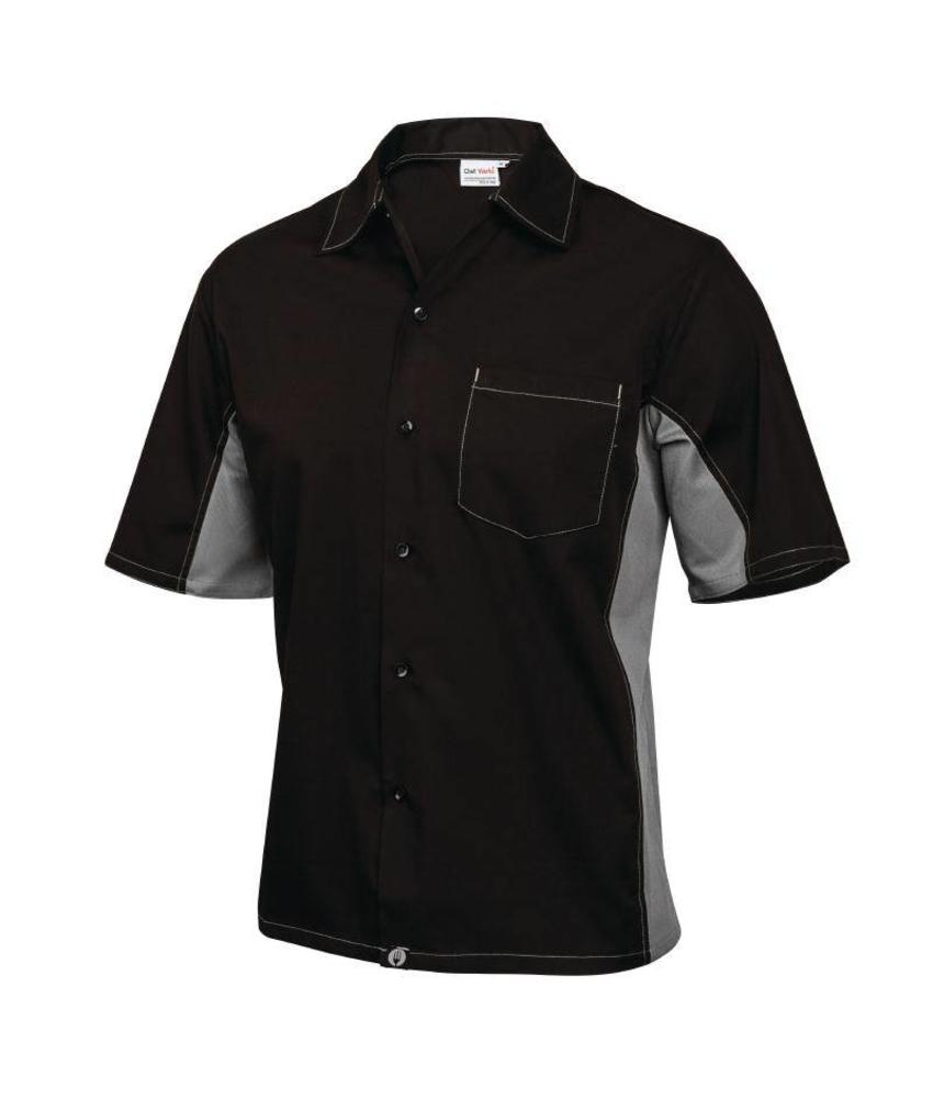 Chef Works Cool Vent contrast shirts grijs