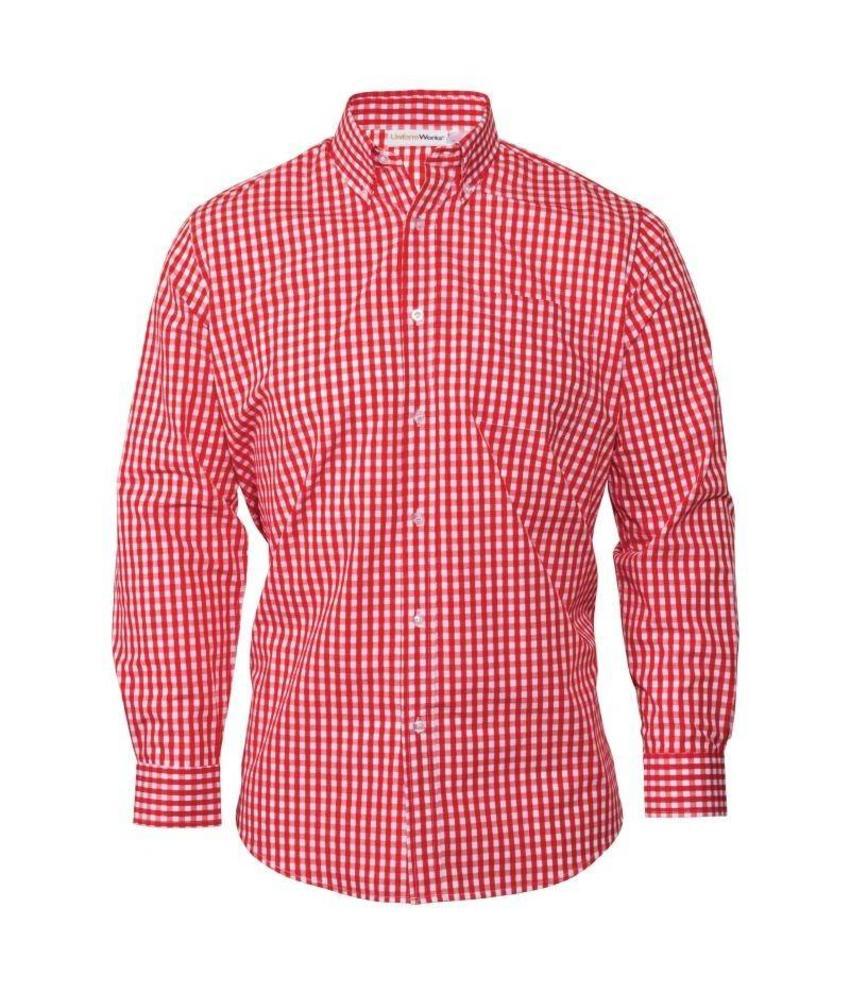 Uniform Works heren Gingham overhemd rood
