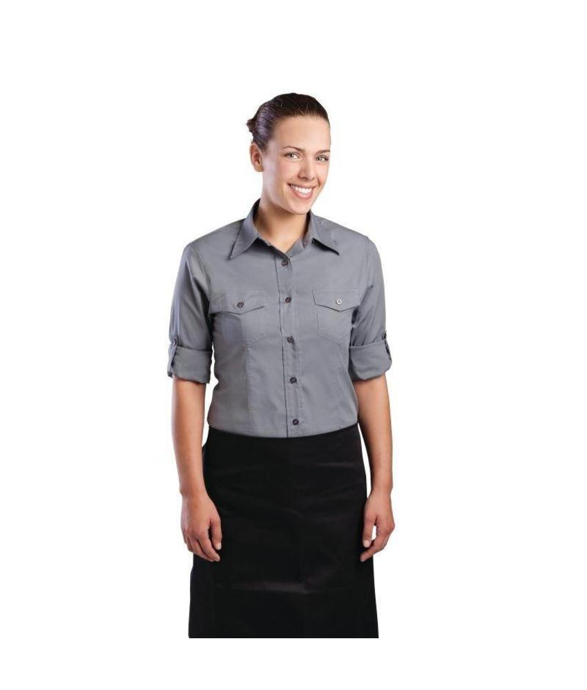 Uniform Works grijs dames overhemd