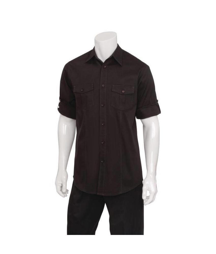 Uniform Works zwart heren overhemd