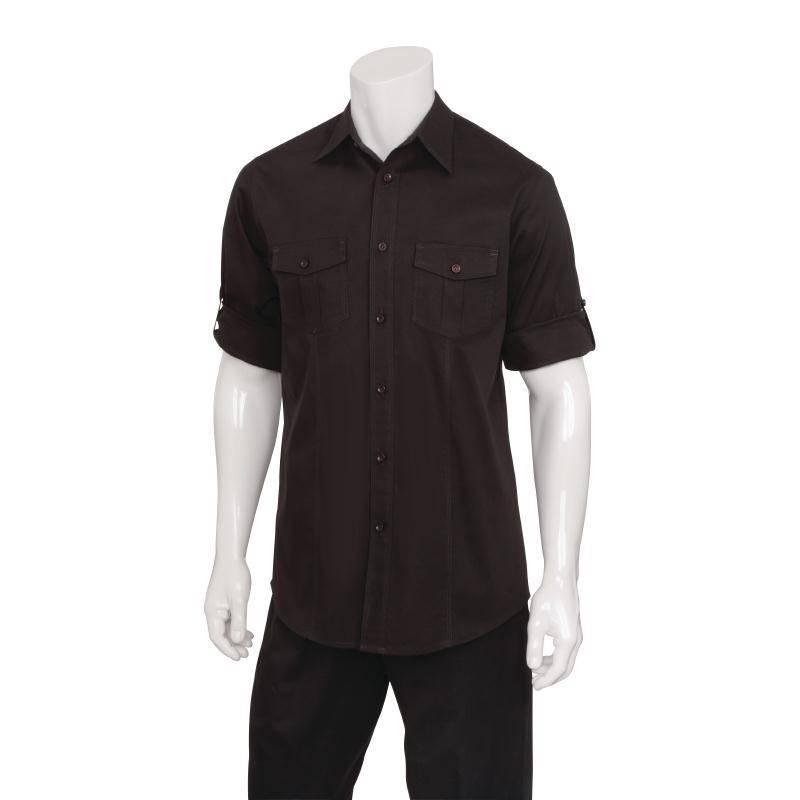 Heren Overhemd Zwart.Uniform Works Zwart Heren Overhemd V Supply