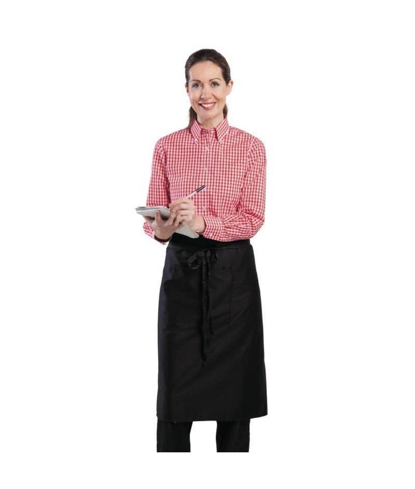 Uniform Works dames Gingham overhemd rood