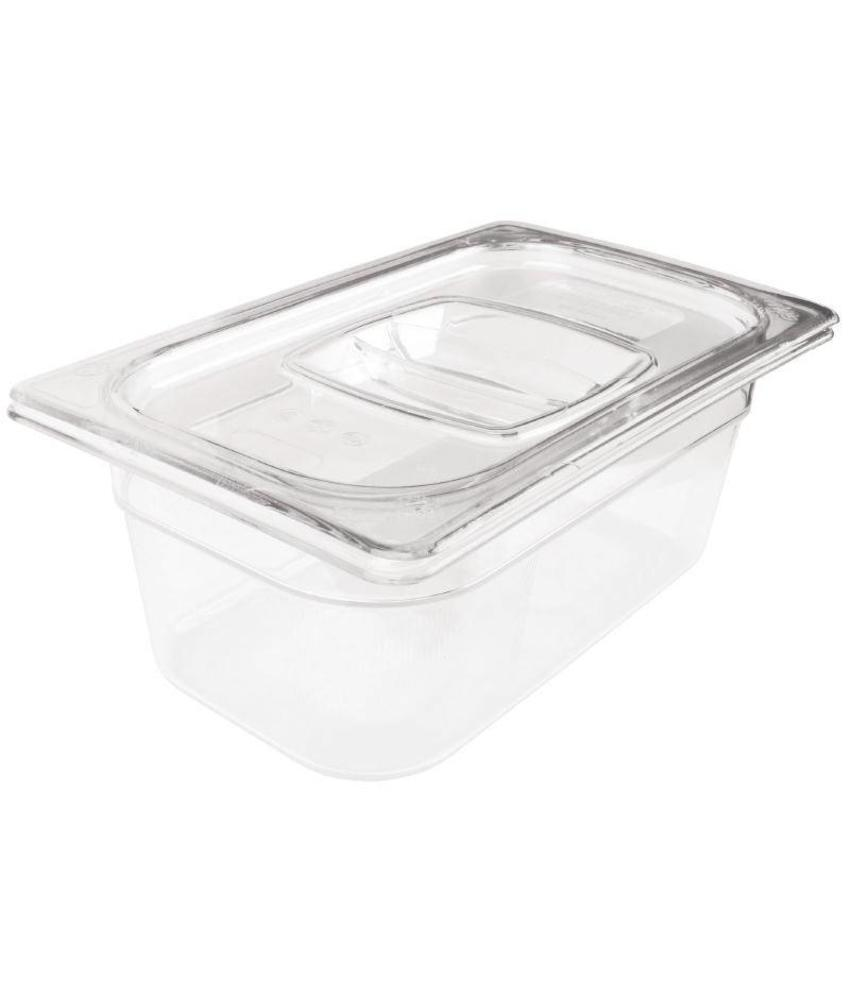 Rubbermaid Rubbermaid transparante polycarbonaat GN1/4 bak 150mm