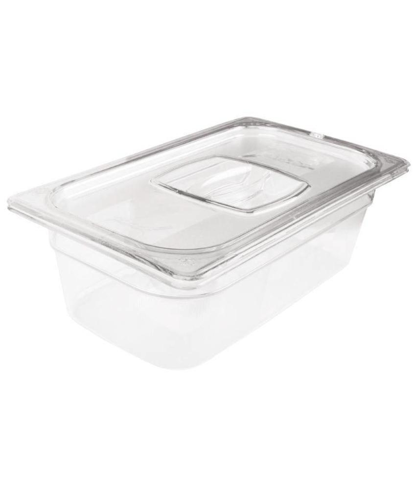 Rubbermaid Rubbermaid transparante polycarbonaat GN1/3 bak 100mm