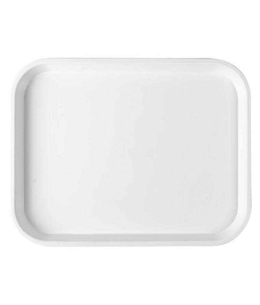 Diepe polystyreen voedselschaal 25x35cm