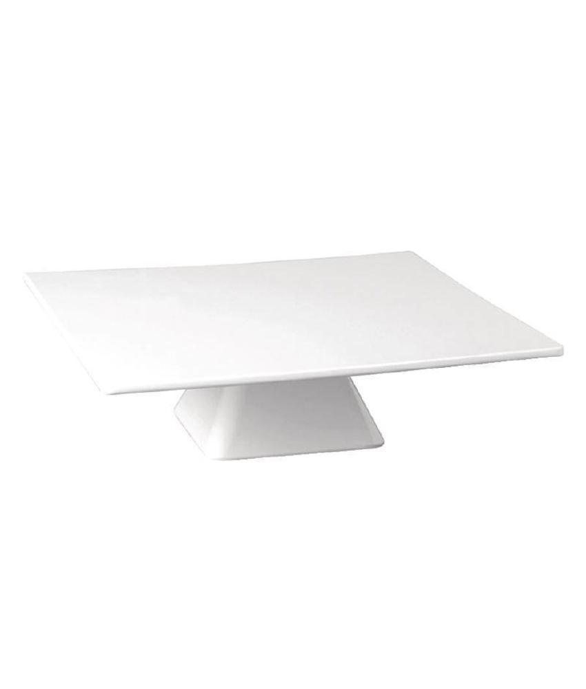 Kristallon Kristallon melamine taartstandaard vierkant 30x30cm