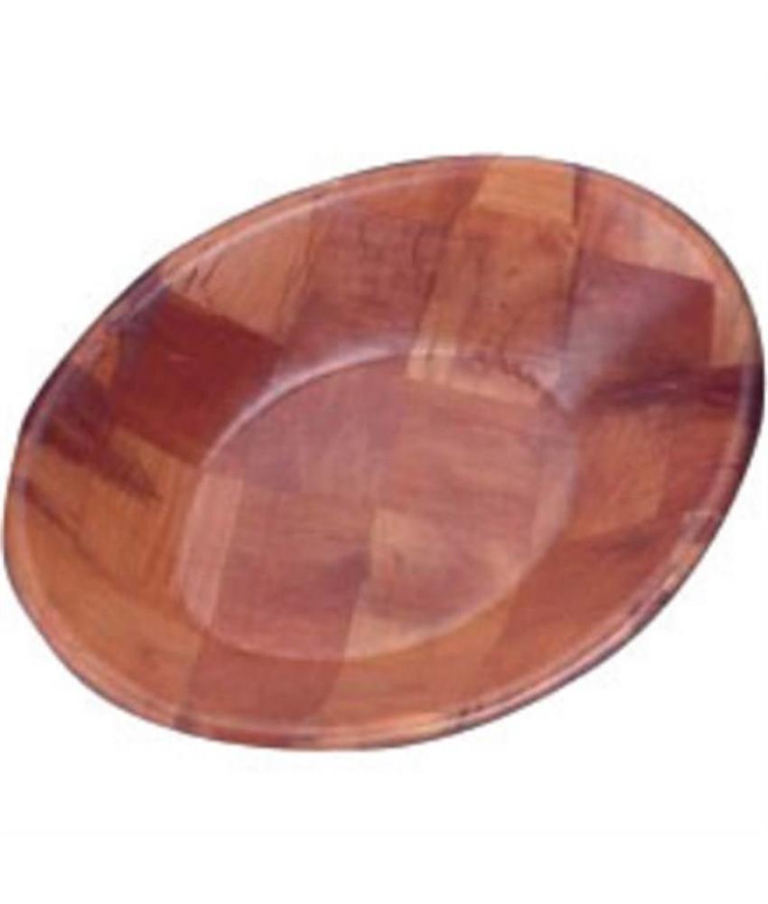 Ovale houten kom groot
