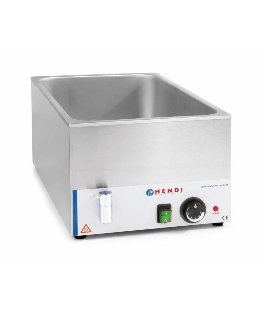 Hendi Bain-Marie 150 mm KitchenLine met wateraftapkraan 230V 1200W