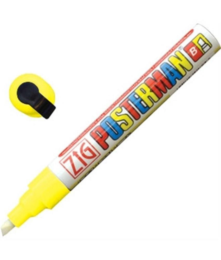 Securit Zig Posterman weerbestendige krijtstiften geel 6mm