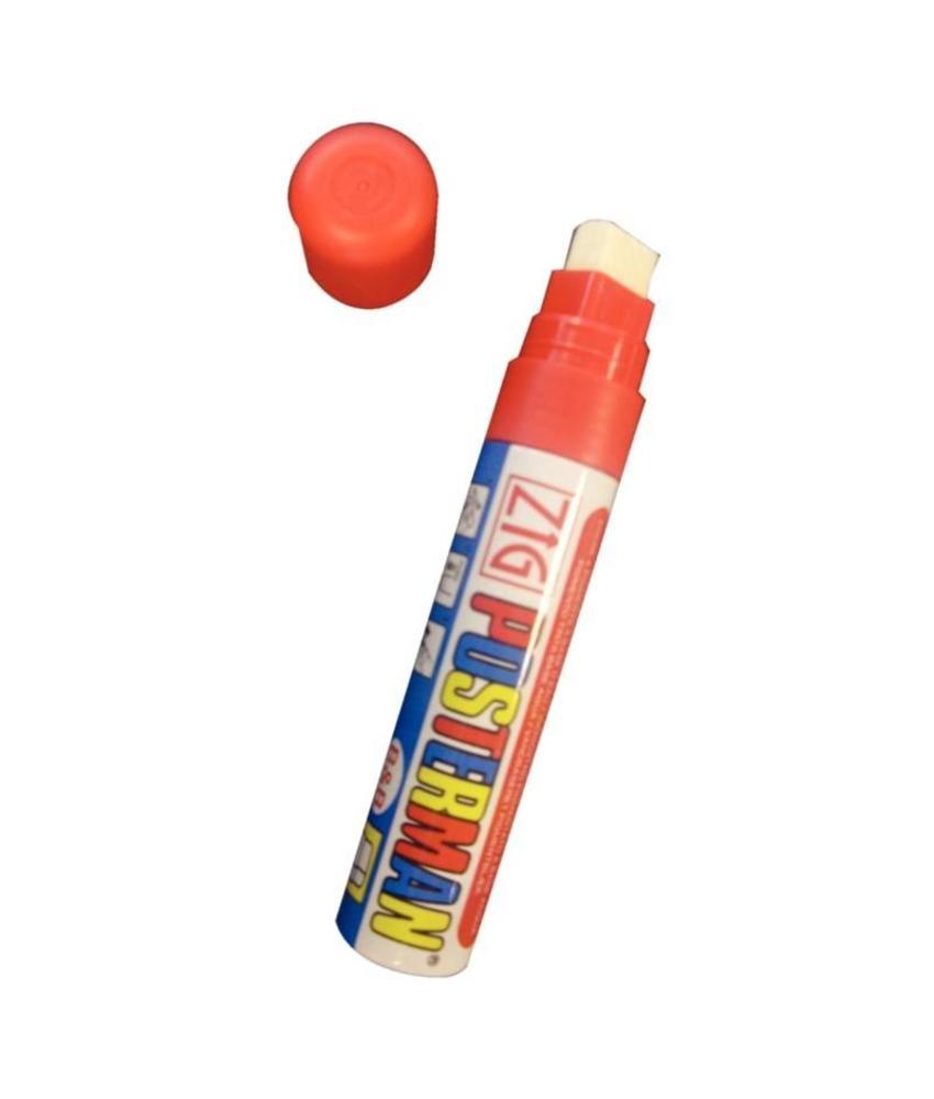 Securit Zig Posterman weerbestendige krijtstiften rood 6mm