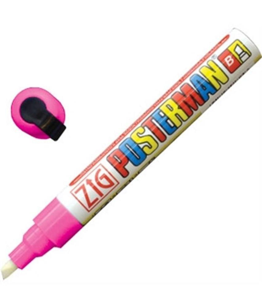 Securit Zig Posterman weerbestendige krijtstiften roze 6mm