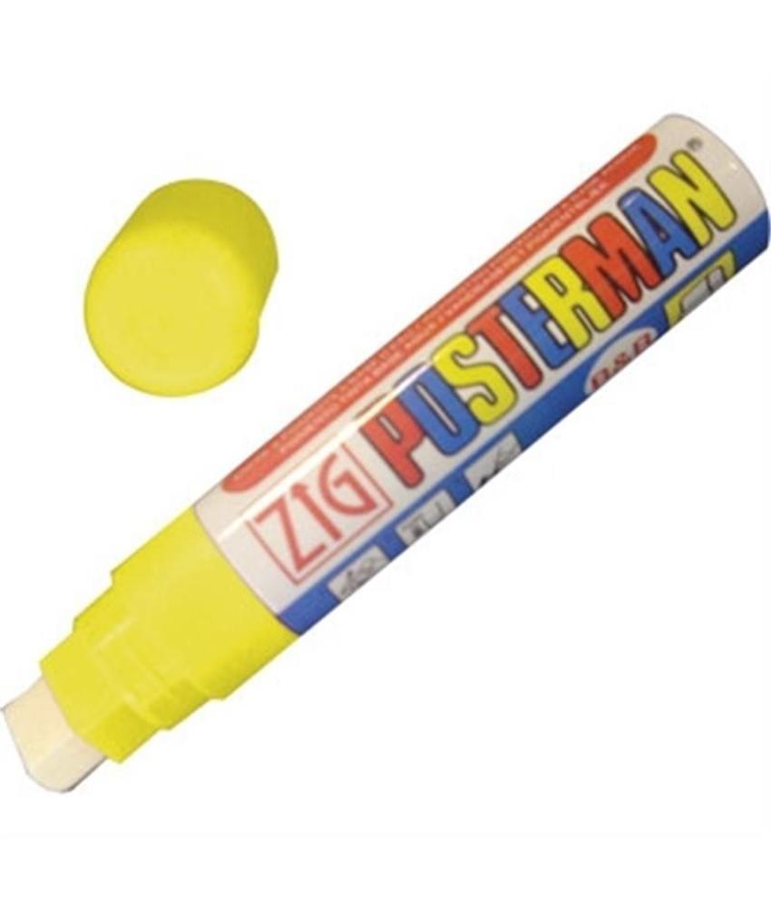 Securit Zig posterman weerbestendige stift geel 15mm