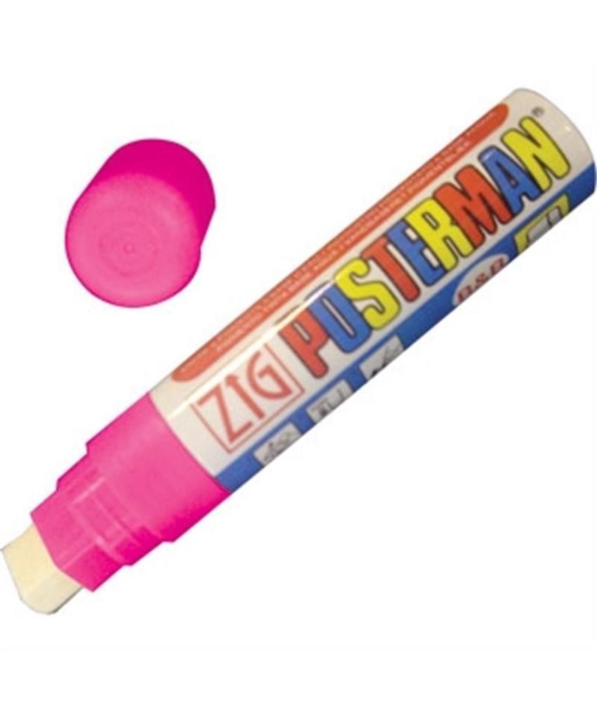 Securit Zig posterman weerbestendige stift roze 15mm
