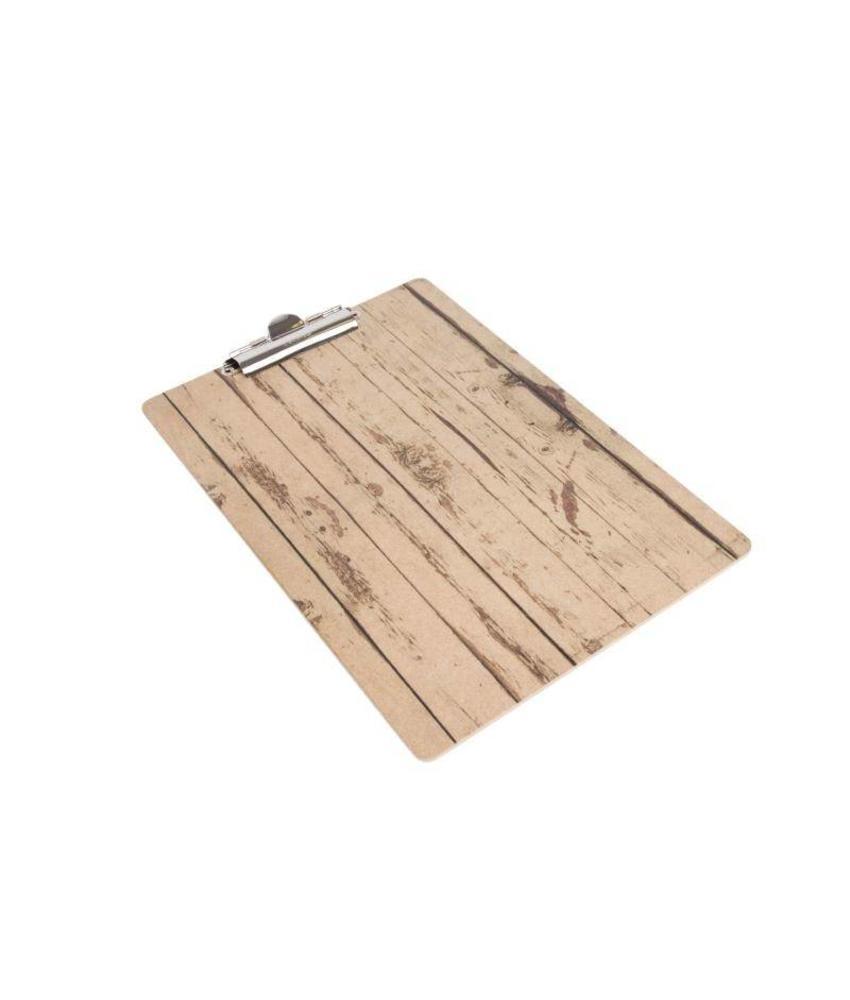 Olympia menu klembord met houten effect A4