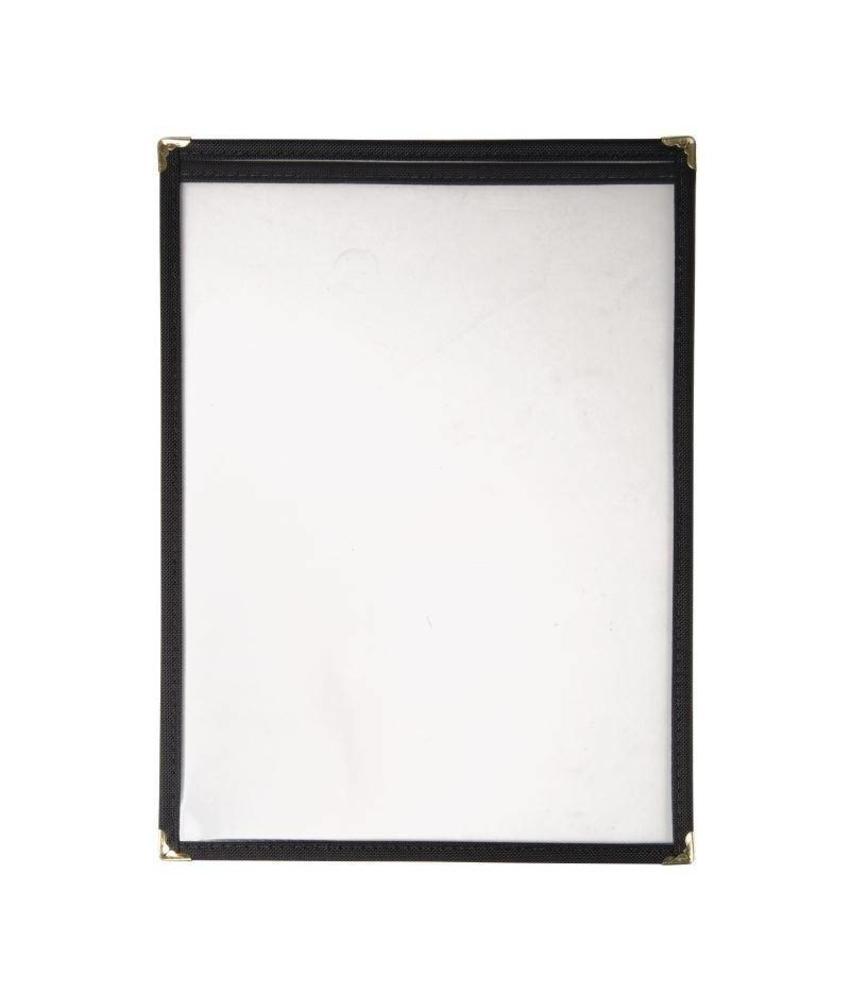 Olympia menuhouder A4 zwart 2 bladzijden