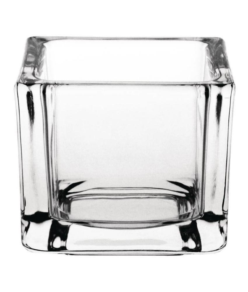Olympia Olympia doorzichtig glazen theelichthouders vierkant 6 stuks