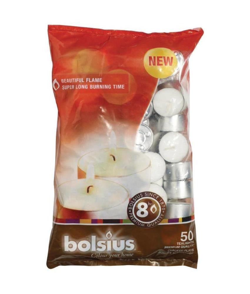Bolsius Bolsius theelichtjes met 8 branduren 50 stuks