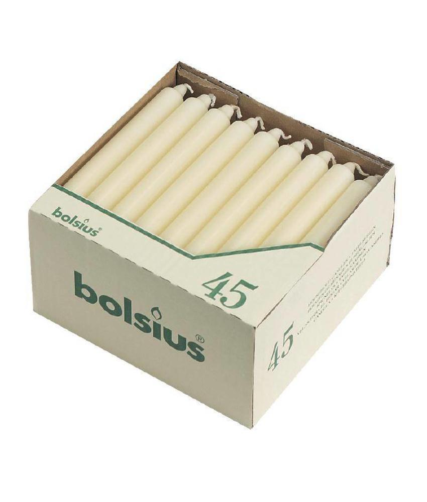 Bolsius Bolsius tafelkaarsen wit 45 stuks