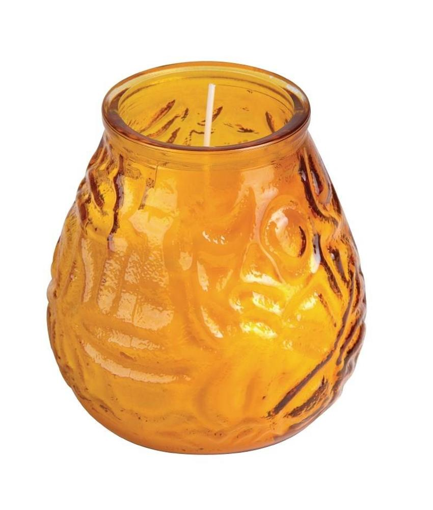 Bolsius Bolsius Lowboy kaarsen amber 12 stuks