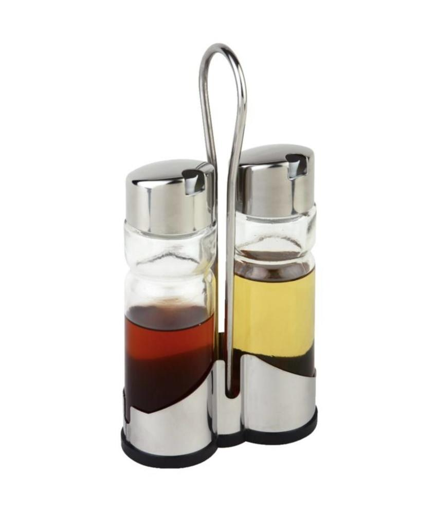 APS Tafelset olie- en azijnflesjes met houder