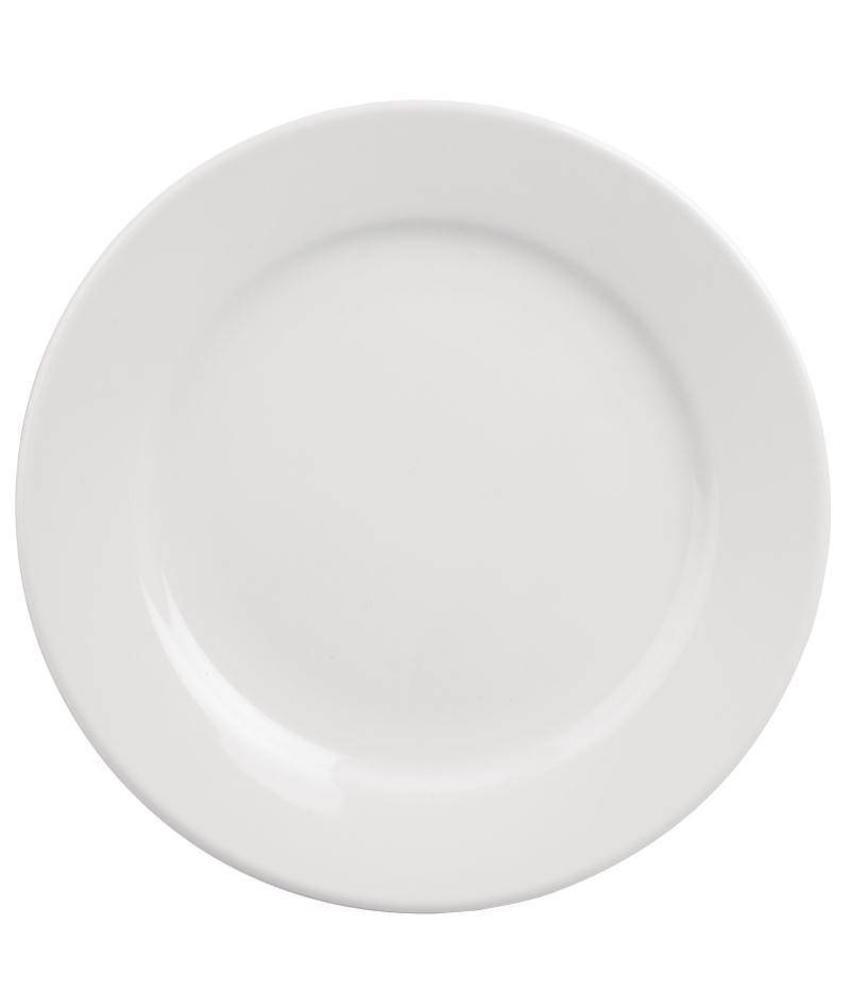 Athena Hotelware Athena Hotelware borden met brede rand 23cm 12 stuks