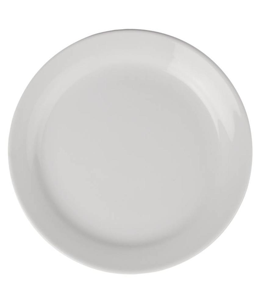Athena Hotelware Athena Hotelware borden met smalle rand 20,5cm 12 stuks