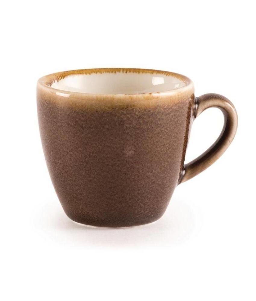 Olympia Olympia Kiln espressokopjes bruin 8,5cl 6 stuks