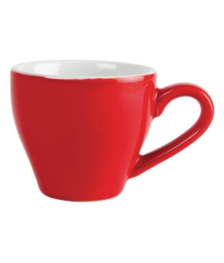 Olympia Olympia espresso kop rood 10cl 12 stuks